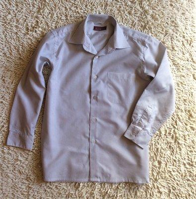 Рубашка белая в тонкую полоску с длинным рукавом