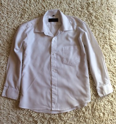 Белая рубашка на 7 лет