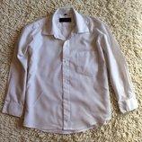 Белая рубашка на 7 -9 лет
