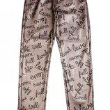 Утепленные кожаные брюки.Оригинал.Италия.