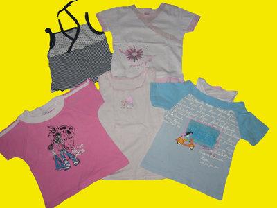 Пакет футболок,маек для девочки 5-6 лет,рост 110-116 см