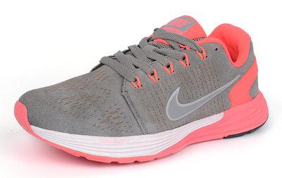 Женские кроссовки Nike Lunarglide 7 Running Pink & Grey