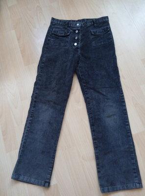 Штаны вельветовые серого цвета, на рост 134 см, фирма cxips