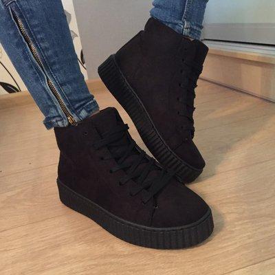 Женские ботинки криперы замш