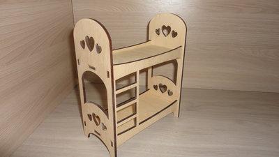 Мебель для куклы. Кровать двухъярусная