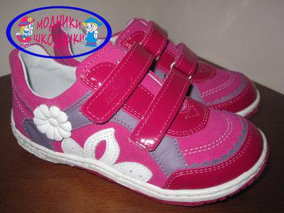 Кожаные польские туфли на девочку Renbut 23-3093 р. 26-30 шкіряні якісні