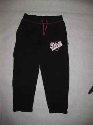 спортивные штаны на баечке на 7-8 лет, чёрные, девочке