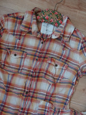 Снизила цену Облегченная рубашка в клетку H&M