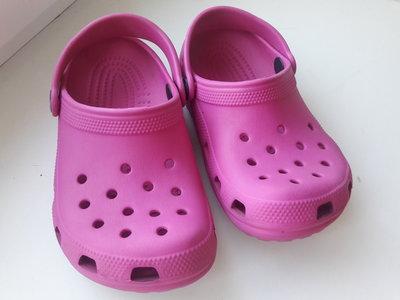 Кроксы Crocs розовые яркие