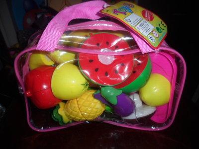 143.набор овощей и фруктов 11 шт можно разрезать на пополам