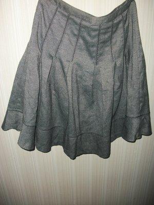 юбка серая тёплая