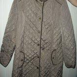 куртка полу пальто женское стильное с налокотниками