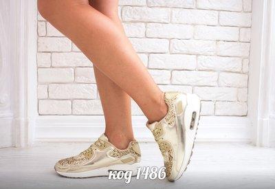 Женские стильные кроссовки серебро, золото
