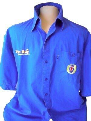 Мужская рубашка синего цвета Fosters, большой размер, Пог-62