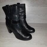 Демисезонные кожаные ботинки New Look