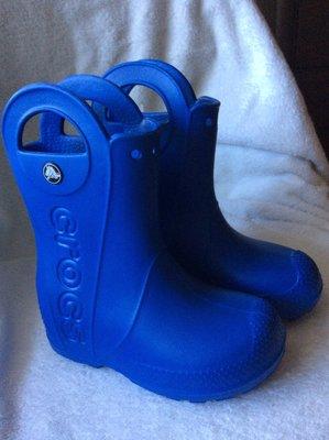 детские сапоги крокс оригинал резиновые сапоги для дождя crocs Kids Handle Rain Boot размер