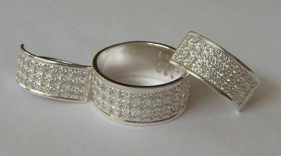 Набор 15910/С1560ММ, серебро 925 пробы, синтетический кубический цирконий.