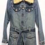 Джинсовая Курточка пальто демисезон Pieno Осенняя одежда