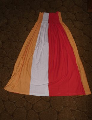 длинная яркая юбка