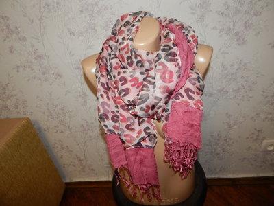 шарф комбинированный стильный модный