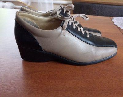 Кожаные туфли-ботинки р.38 фирма HIRICA Франция
