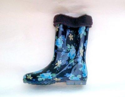 Резиновые - силиконовые женские сапоги с утеплителем 36-42 размеры