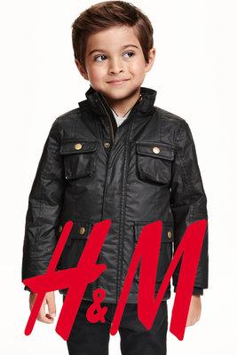 Куртка демисезонная удлиненная для мальчиков 1-2 года фирмы H&M Швеция