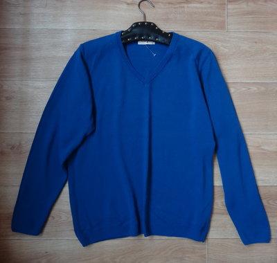 Новая синяя кофточка- свитер XL