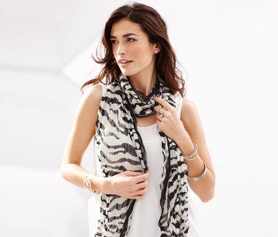 Стильный шарф зебра Тсм Tchibо 200х50
