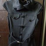 Трикотажная жилетка, пиджак