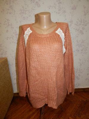 свитер вязаный стиьлный модный р14