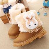Сапоги зимние на девочку Теплые угги дутики ботинки