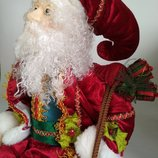 Большая коллекционная фарфоровая кукла фарфор дед мороз,санта клаус,куколка,эльф гном новый год