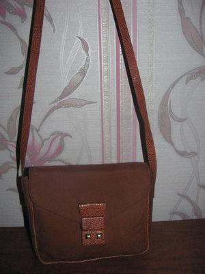 Натуральная замшевая сумка Mondi