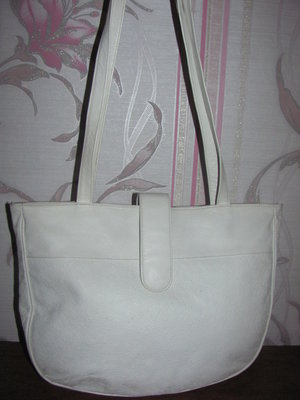 Белая кожаная сумка Papillon