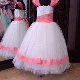 нарядное детское платье перчатки