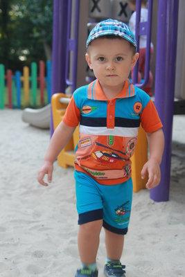 Веселый летний наборчик мальчику 2-3 г ВЕРТОЛЁТИК Детская одежда