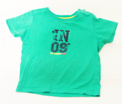 Зеленая Футболка на мальчика 1,5 года Детская одежда, большой выбор, низкие цены