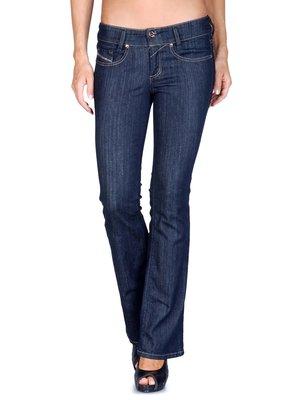 Новые стрейч джинсы темно-синие slim-bootcut DIESEL louvely W32 L30