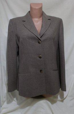 Деловой костюм тройка жакет, юбка, брюки кофе с молоком чистая шерсть EASTEX 46-48р