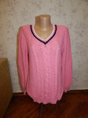 свитер вязаный тёплый стильный модный р10-12