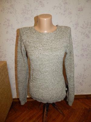 свитер вязаный тёплый стильный модный р8