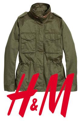 Демисезонная куртка карго для женщин размер S фирмы H&M Швеция