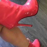 Бомбезные лакированные ботинкиYves Saint Laurent.37 размер