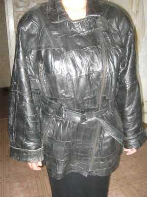 Куртка женская кожаная р.52