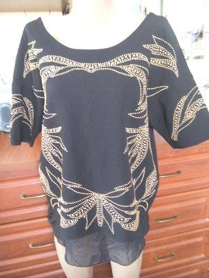 Zara нарядная кофточка-блуза с камушками и шифоновым низом 48-50р
