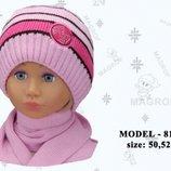 Акція Дитячі комплекти MAGROF для дівчинки Шапка шарф