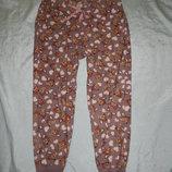 штаны домашние с карманами флисовые р16-18