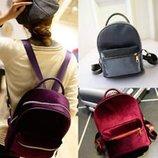 Милый бархатный рюкзак для модных девушек В Наличии