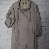 Бежевая парка плащ легкое пальто Numph zara pull&bear h&m asos bershka